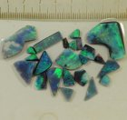 Top Grade Gem Quality Rub-Parcel vom Mulga Opal Feld, Lightning Ridge