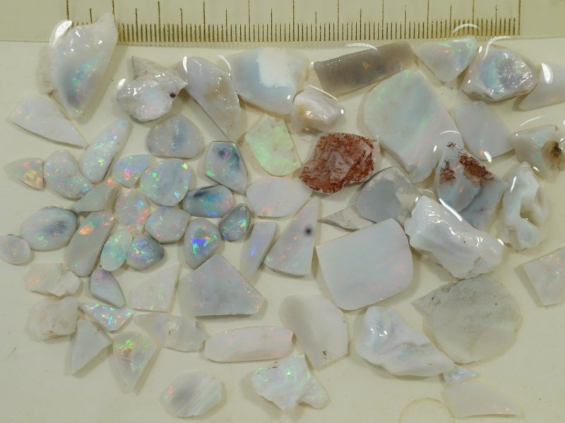 Red multicolor opal parcel from Lightning Ridge
